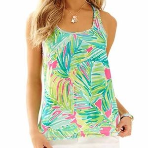 Lilly Pulitzer luxletic tank- Tropical Storm